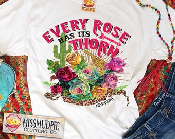 df78c9cffe7 SIX COLOR OPTIONS - Missmudpie - Every Rose Has Its Thorn - Bella Canvas  Brand T-shirt