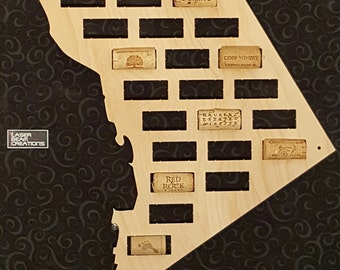 NEW --- District of Columbia Shaped Wine Cork Map - Holds 25 Wine Bottle Corks -- For your wine lover -- Made in the USA