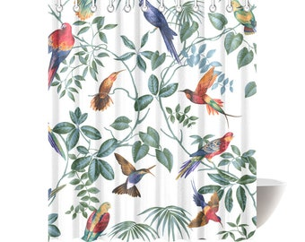 Aviary Birds Shower Curtain
