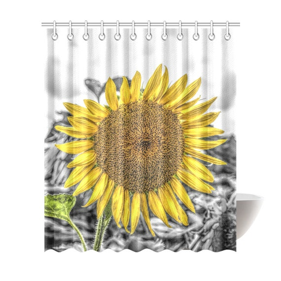 Sunflower Shower Curtain 6 Sizes To Choose From Includes