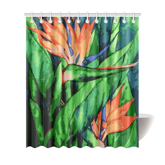 Birds Of Paradise Shower Curtain 6 Sizes To Choose From