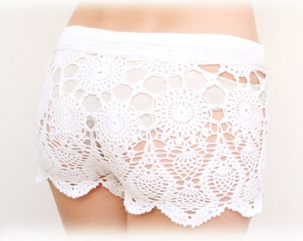 Crochet beach shorts, cover up, boho, lacy, PATTERN, PDF, Tutorial, digital, instant download, DIY, English, charts Kate Hudson