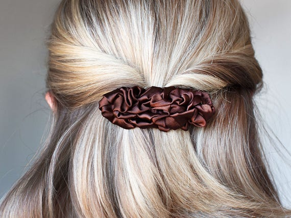 Silver Hair Clip Slide Bendies Hair Accessories UK
