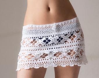 Crochet beach skirt, cover up, boho, falda, mini, PATTERN,  PDF, Tutorial, digital, instant download, DIY, English, charts