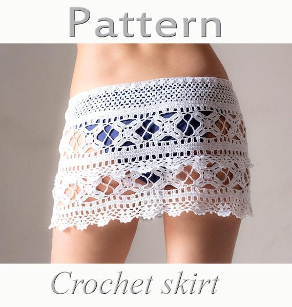 Crochet Beach Skirt Pattern Pdf Crochet Cover Up Etsy