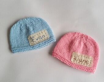 Personalized newborn hat, newborn name hat,newborn monogram hat,personalized newborn gift, newborn props,monogram baby hat,hospital baby hat