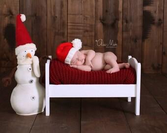 Newborn photo prop, newborn hat, newborn boy, newborn girl, knit newborn hat, newborn props, Newborn santa hat