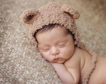 15% off  SALE  Newborn photo prop,newborn hat,newborn boy, newborn girl,knit newborn hat,newborn props,Fluffy bear hat,13 colors.SUPER soft.