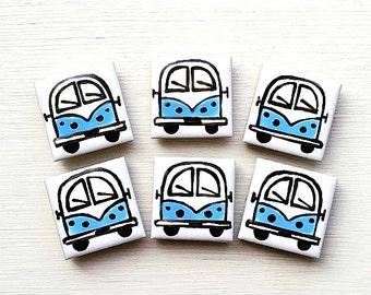 Fridge Magnet Wedding Favours Splitscreen Stationary, Combi Magnet Campervan Magnet Yellow Refrigerator Magnet