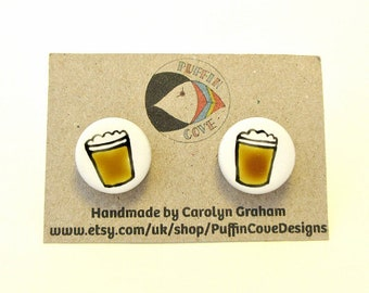 Beer Cufflinks, Men's Gifts, Gift for Dad, For Him, Wedding Cufflinks, Groom Cufflinks, Gift for Grandad