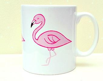 Flamingo Mug, Bird Mug, Tea Mug, Coffee Mug, Girls' Gift, Gifts for Mum, Homewares, Water Bird, For Her,
