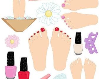 Nail polish clipart | Etsy