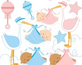 Baby Boy Gift Card Baby Shower Cute Digital Clipart Boy Baby Etsy