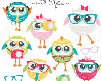ON SALE Kawaii Owls Cute Digital Clipart Cute Owl Clipart ...
