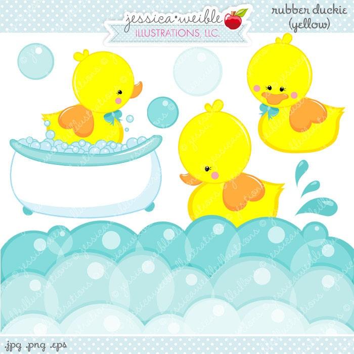 Gelb Rubber Duckie niedlich digitale Clipart kommerzielle   Etsy