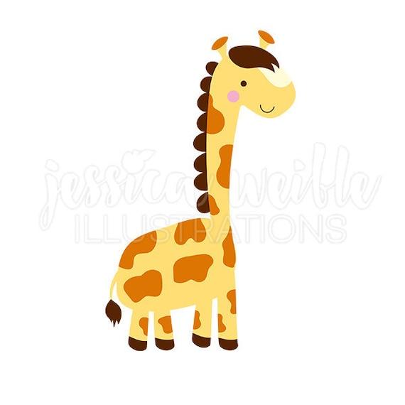 lil giraffe cute digital clipart cute giraffe clip art rh etsy com
