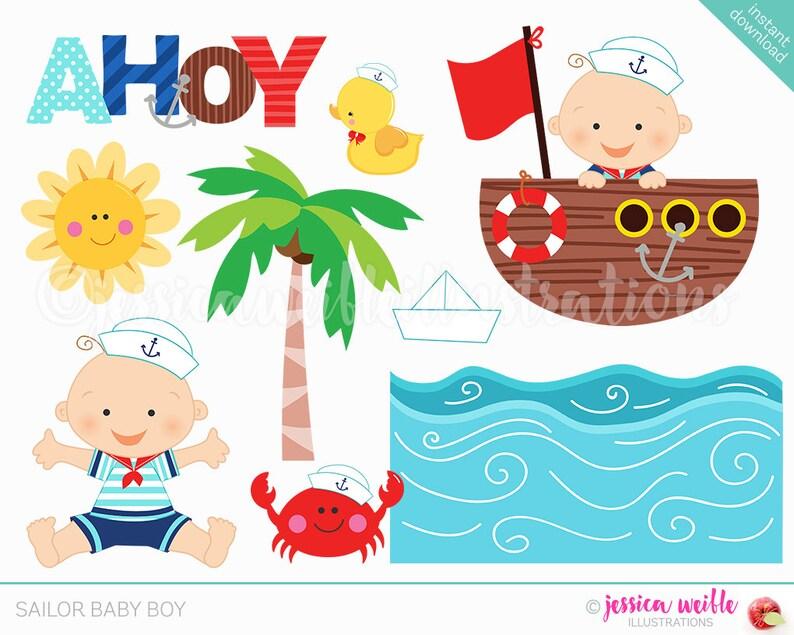 fcf75fa729b6 Sailor Baby Boy Cute Digital Clipart Sailor Clip art