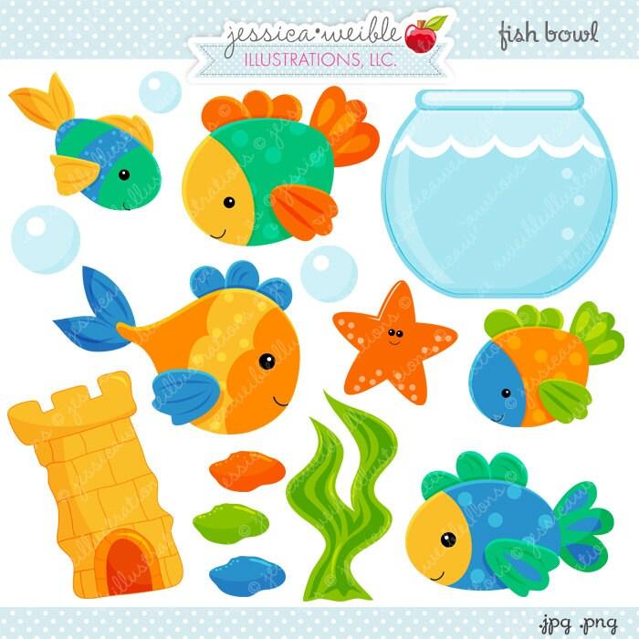 Fisch Schale niedlich digitale Clipart kommerzielle Nutzung   Etsy