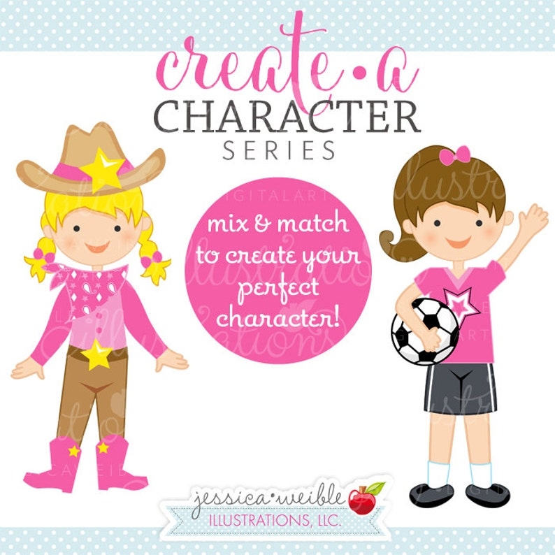 Cute Digital Clipart Commercial Use OK Mix /& Match Sets to Create Your Own Character Create A Character Series Blonde Girl Faces