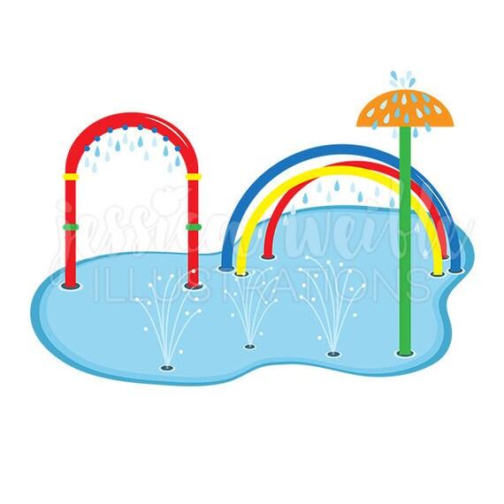 splash pad clip art cute digital clipart water park clip etsy rh etsy com water park clipart images Cartoon Network Water Park