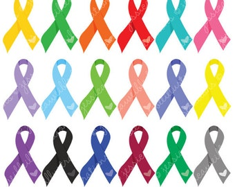 Dare to Care Solid Awareness Ribbons for Commercial or Personal Use, Awareness Clipart, Awareness Graphics