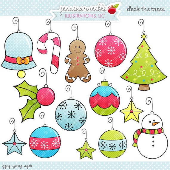 Deck The Trees Cute Digital Clipart Commercial Use Ok Etsy