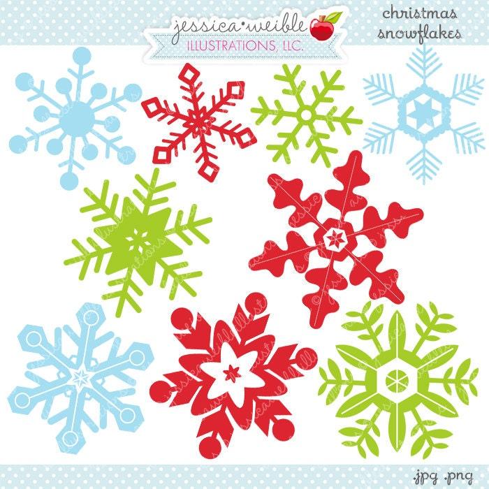 Weihnachten Schneeflocken niedlich digitale Clipart   Etsy