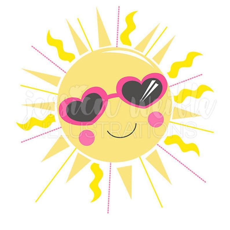 Sunshine Cutie Cute Digital Clipart Sun Clip art Summer | Etsy