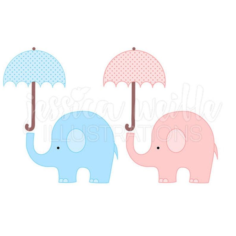 df9621f3a Baby Elephant with Umbrella Cute Digital Clipart Elephant image 0