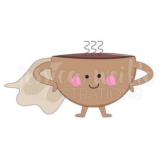 Super Coffee Cute Digital Clipart Coffee Cup Clip Art Coffee Etsy
