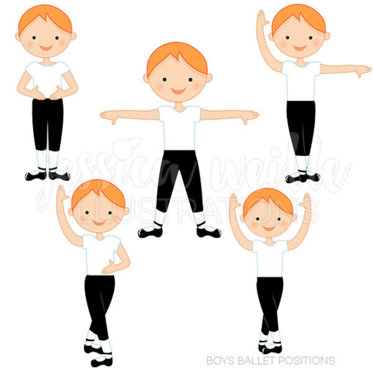 auburn boys ballet positions cute digital clipart, ballerina clip art, ballet graphics, ballet positions, instant download, ball