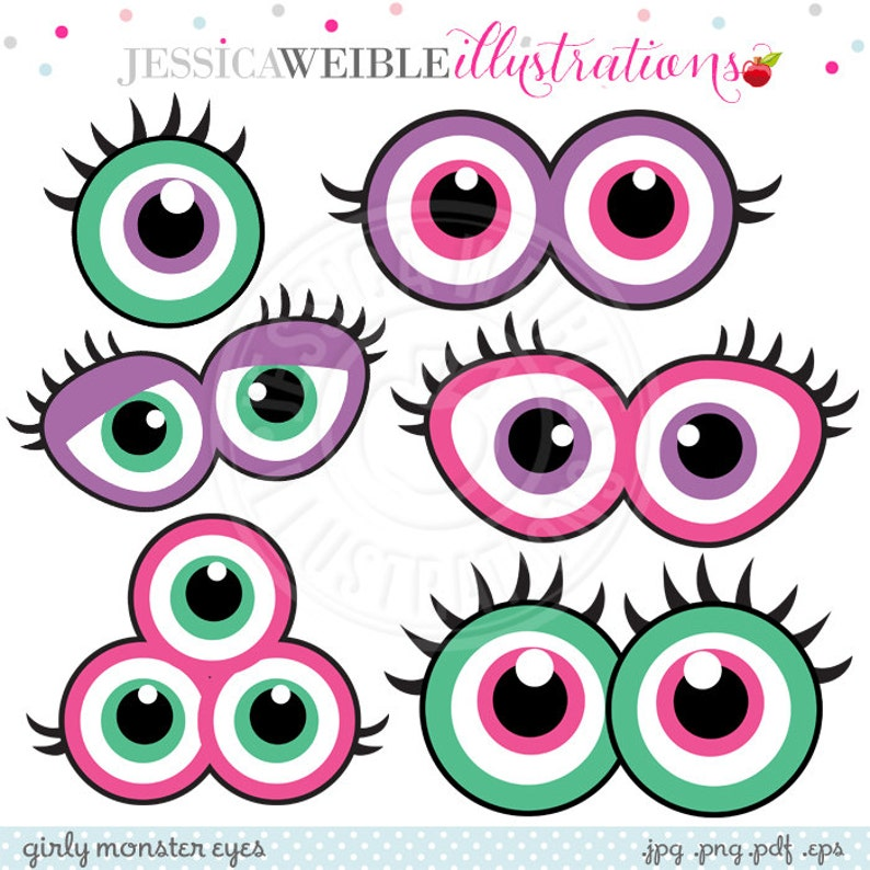 photograph about Printable Monster known as Girly Monster Eyes Adorable Printable Birthday Social gathering Favors - Printable Monster Eyes, Monster Faces, Purple Monster