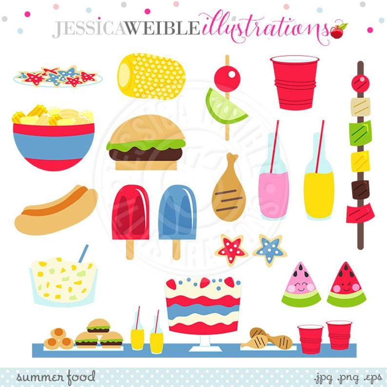 Summer Food Cute Digital Clipart Summer Graphics Summer | Etsy