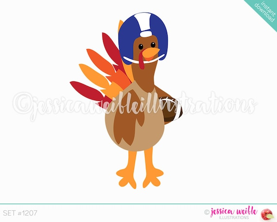 Thanksgiving turkey football. Illustration of a turkey running with a  football for his body.