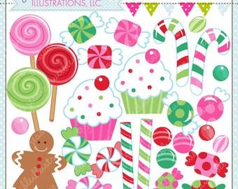 Christmas Candy Cute Digital Clipart - Commercial Use OK - Christmas Clipart, Christmas Graphics, Christmas Candy, Candy Clipart