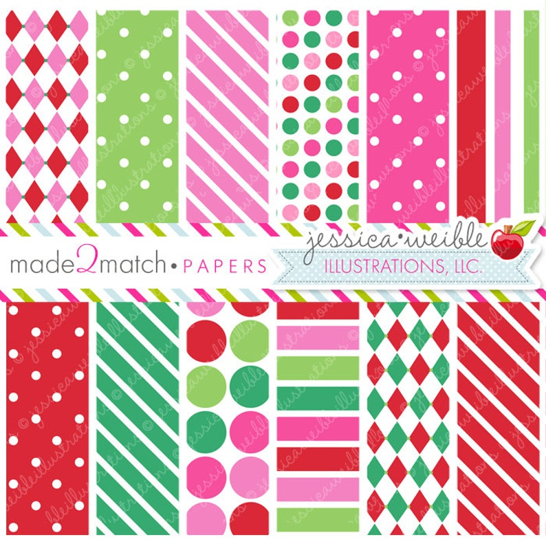Christmas Backgrounds Cute.Christmas Candy Cute Digital Papers Backgrounds For Personal And Commercial Use Christmas Patterns Christmas Backgrounds