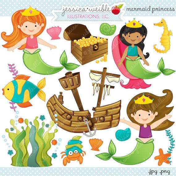 Sea Creatures Clipart Mermaids Under the Sea Clipart Princess Clipart Mermaids Clipart Mermaids Mermaid Graphics Ocean Graphics
