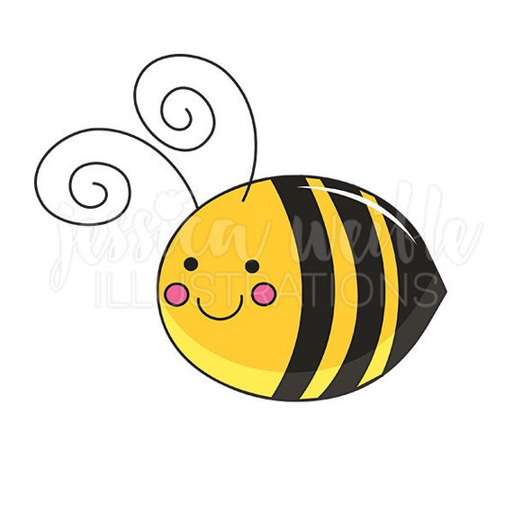 Be Mine Bee Cute Digital Clipart Bee Clip Art Bumble Bee Etsy
