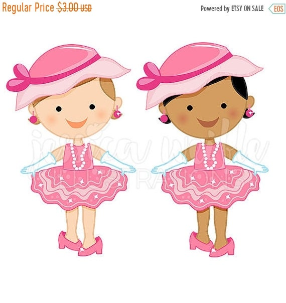 on sale dress up baby girl cute digital clipart toddler girl clip rh etsystudio com Baby Girl Angel Clip Art Newborn Baby Girl Clip Art