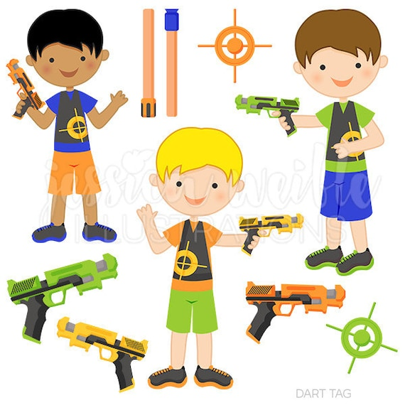 dart tag cute digital clipart for commercial or personal use etsy rh etsy com Water Balloon Clip Art Laser Caution Clip Art