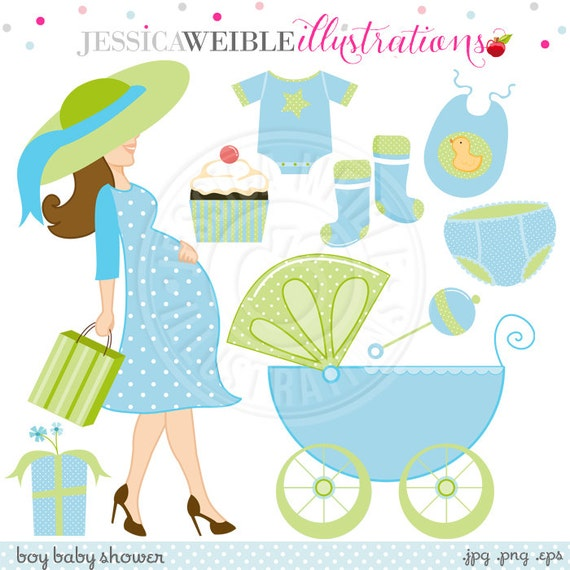 Boy Baby Shower Cute Digital Clipart Commercial Use Ok Baby