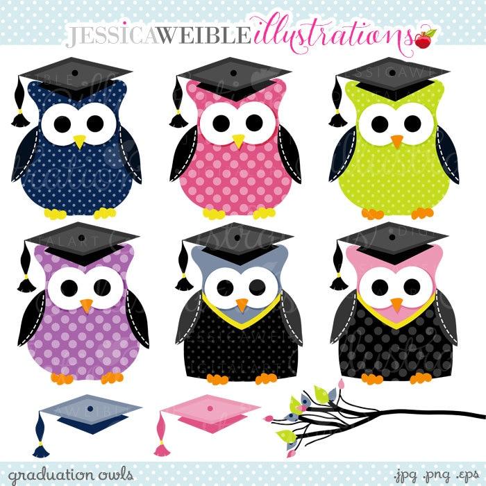 Graduation Owls Cute Clipart Graduation Clip art ...