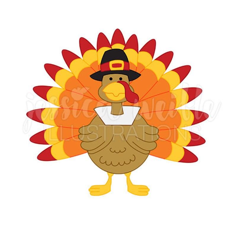 Pilgrim Thanksgiving Turkey Cute Digital Clipart Cute ...