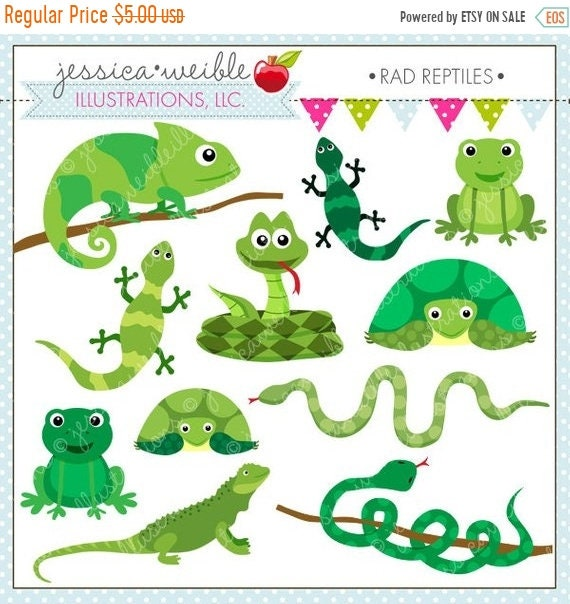 on sale rad reptiles cute digital clipart for commercial or personal rh etsystudio com reptile clipart public domain cute reptile clipart