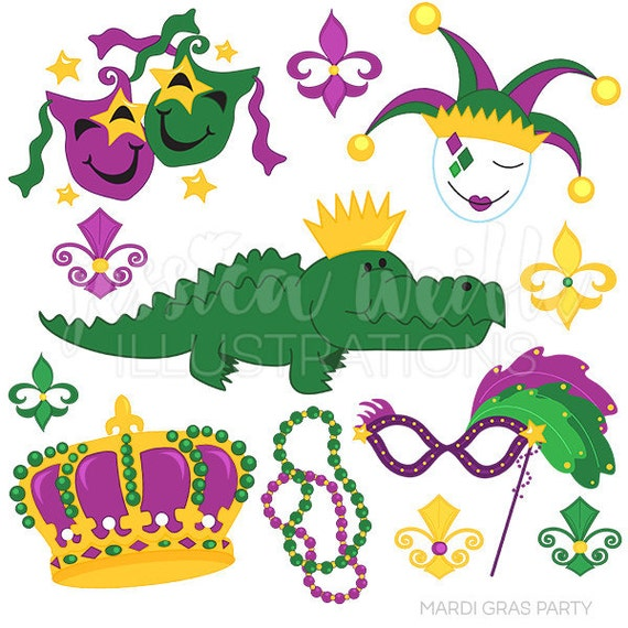 Mardi Gras Party Cute Digital Clipart Mardi Gras Clip Art