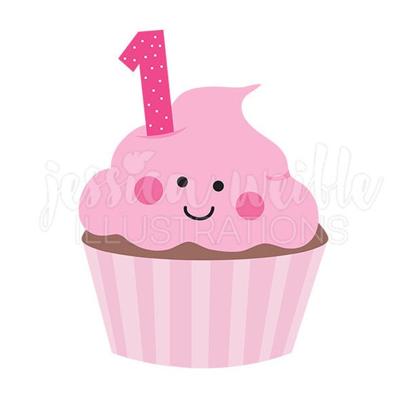 A Woman Frosting Her Cupcakes – Clipart Cartoons By VectorToons