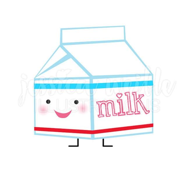 Cute Milk Carton Character Cute Digital Clipart Little Milk | Etsy