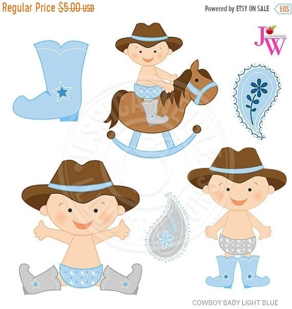 on sale light blue cowboy baby cute digital clipart cute baby rh etsystudio com baby shower cowboy clipart western baby clipart