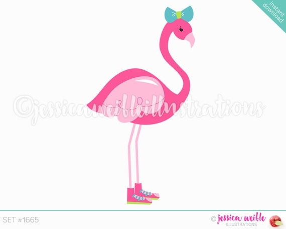 Turnschuhe GrafikenBogenIn Flamingo ClipartNiedliche Niedlich Tropischen Sommer Illustration1665 Sneaker Digitale wOknP0