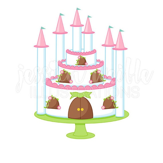 princess castle cake cute digital clipart princess party clip etsy rh etsy com princess castle clipart free princess castle clipart png